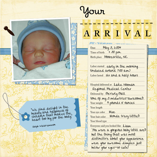 your arrival baby book page 11 members galleries scrap girls