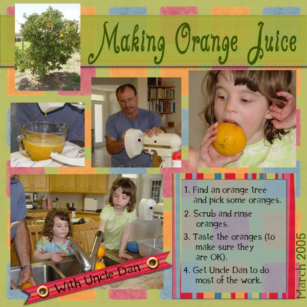 Making Orange Juice...