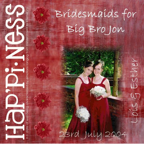 Bridesmaids for Big Bro