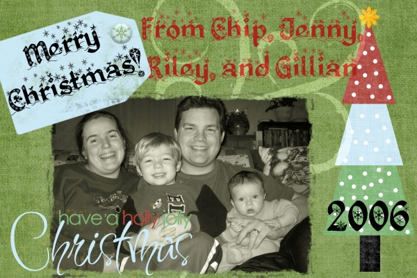 My very first Digiscrapped Christmas Card!