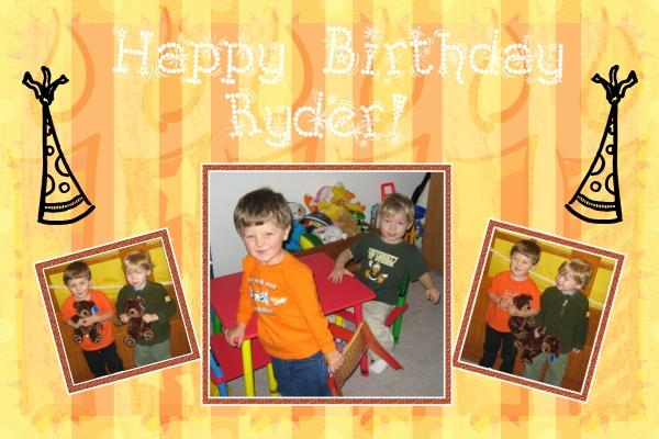 Ryder's Birthday Card