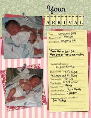 Baby Book: Page the First