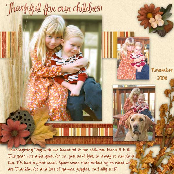 Thankful for our children.