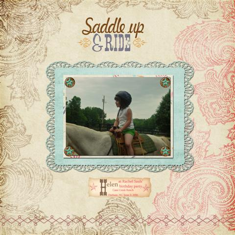 Saddle up and Ride - left side