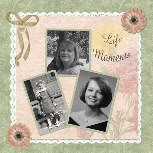Life Moments layout