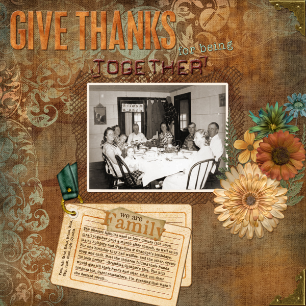 Give Thanks for being Together