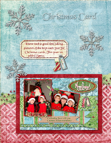 Layout for 2007 Christmas card
