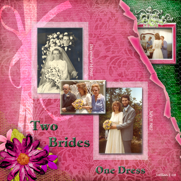 Two Brides, One Dress
