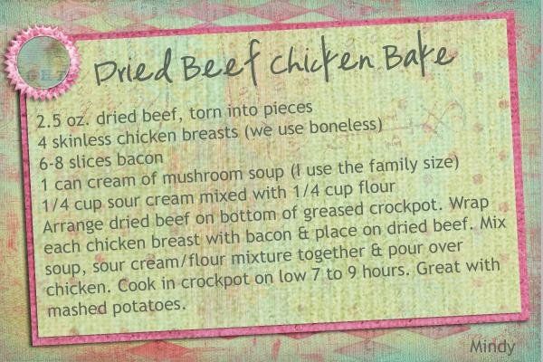 Dried Beef Chicken Bake
