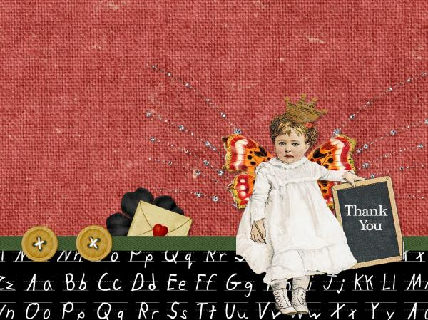 School Days Collage Child - Thank You Card