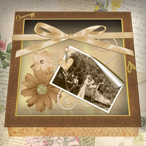 My first lo using Brandy Murray's memory box template