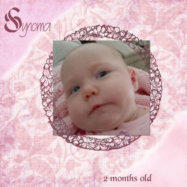 Synoma 2 months old