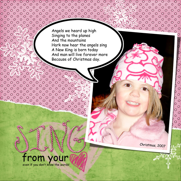 Sing from your heart, even if you don't know the words