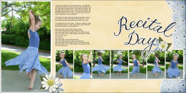 Recital Day - 2 Page Layout