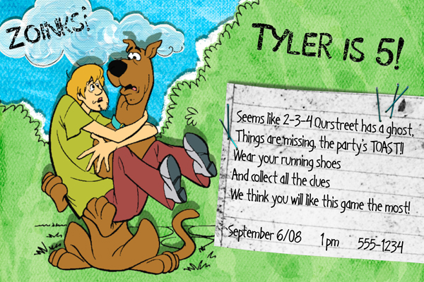 Tyler's birthday invite