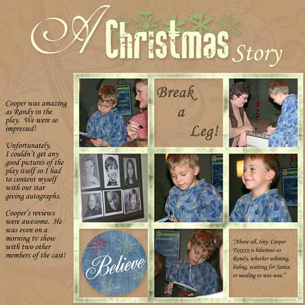 A Christmas Story - Cooper a star!