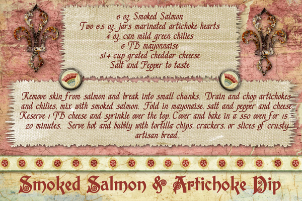 Smoked Salmon and Artichoke Dip