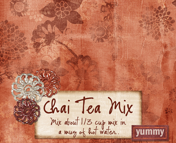 Chai Tea bag topper