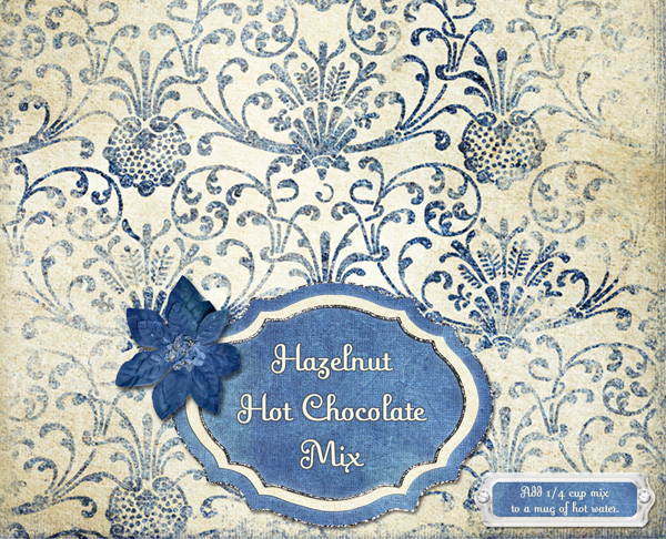 Hazelnut Hot Chocolate Mix topper