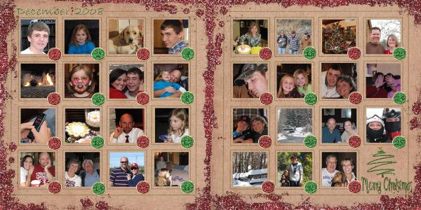 Dec 2008 Pic a Day Layout