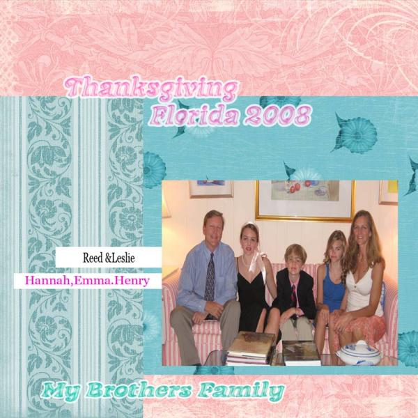 My Brother Reeds Family