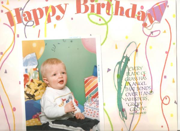 OWENS 1st Birthday, my grandson.