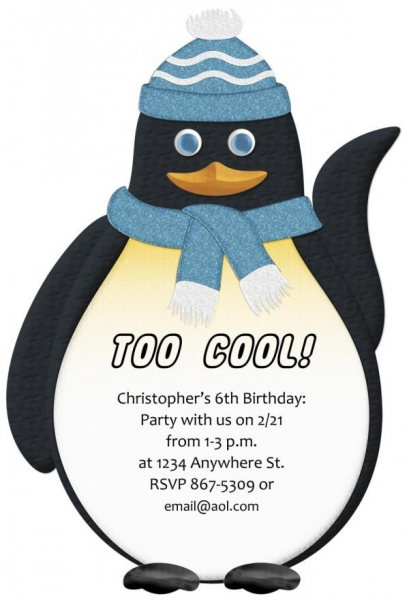 Penguin Party Invitation