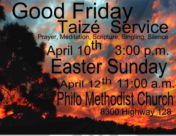 Good Friday Easter sign