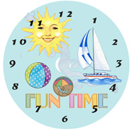 Seaside CD Clock