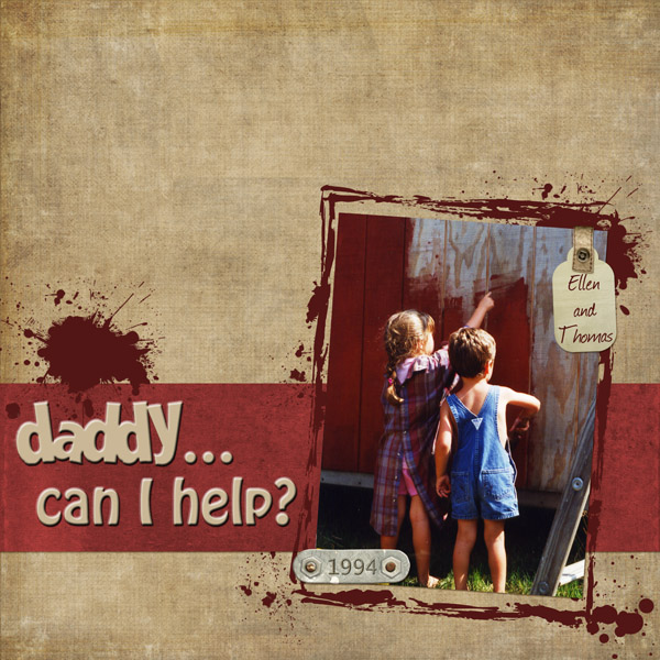 Daddy...can I help? 6/6 color challenge