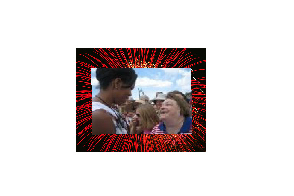 michele obama and me HAPPY 4th of July everyone