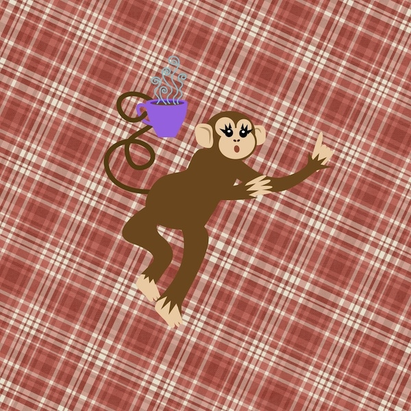 Monkey went plaid! :)