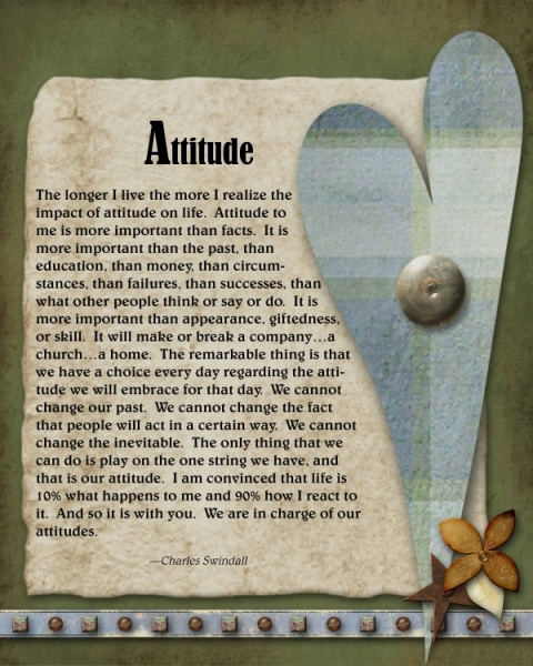 Attitude Thought for Wall Hanging