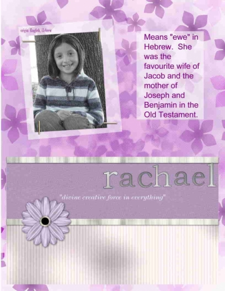 Rachael - Meaning