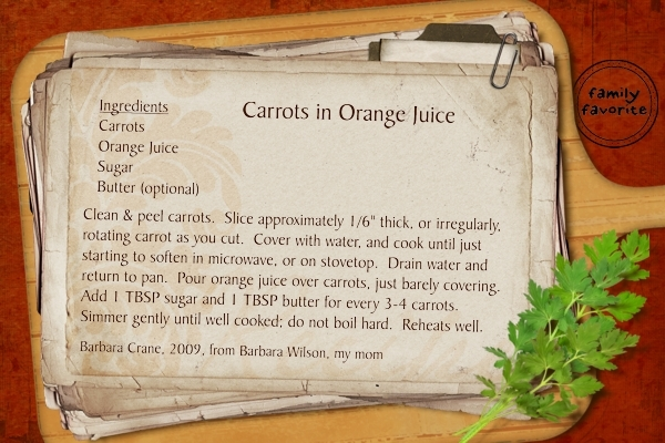 Carrots in Orange Juice (Show Stopping Sides Recipe Swap)