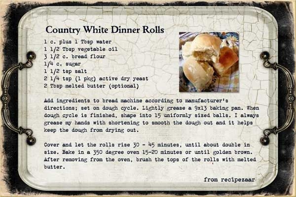 Country White Dinner Rolls