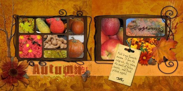 Autumn Double Page Spread