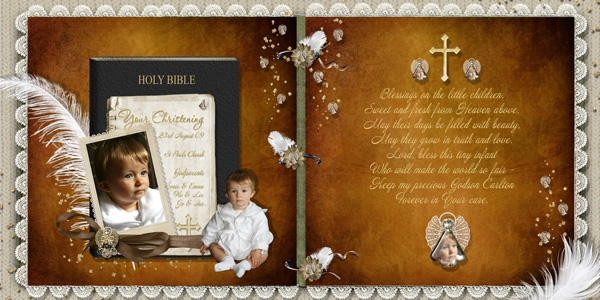 Carltons Christening Double page