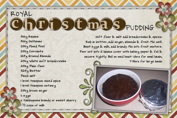 Task #10 Royal Christmas Pudding