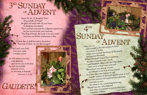 Liturgical Year, Advent Weeks 3 & 4