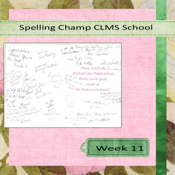 Week 11 Spelling Champ Right