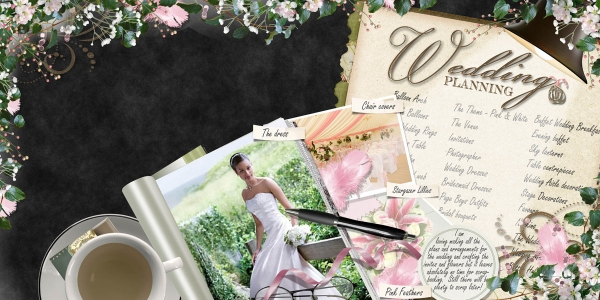 Wedding Planning Double Page Layout