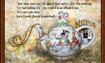 Mad Hatter Tea Party ATC