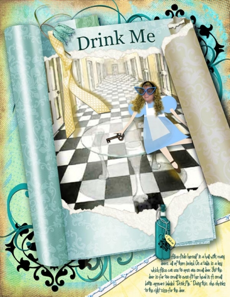 Alice Sticker Challenge_Drink Me