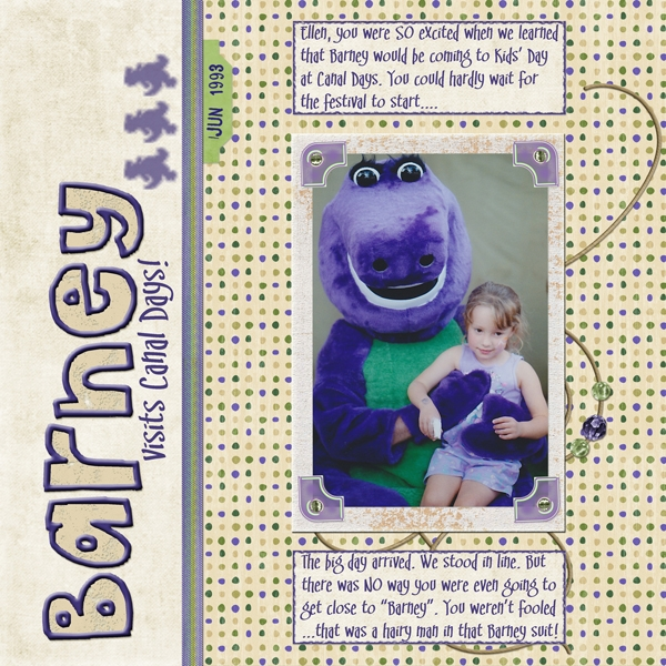 Barney visits Canal Days