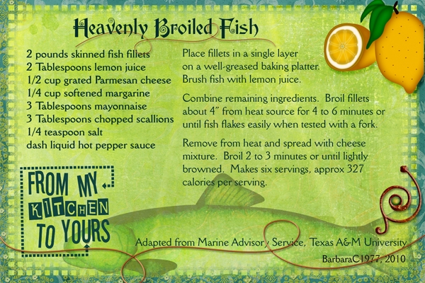 Heavenly Broiled Fish