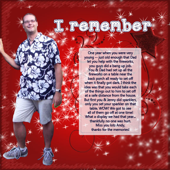 Remembering Andy - Fourth of July