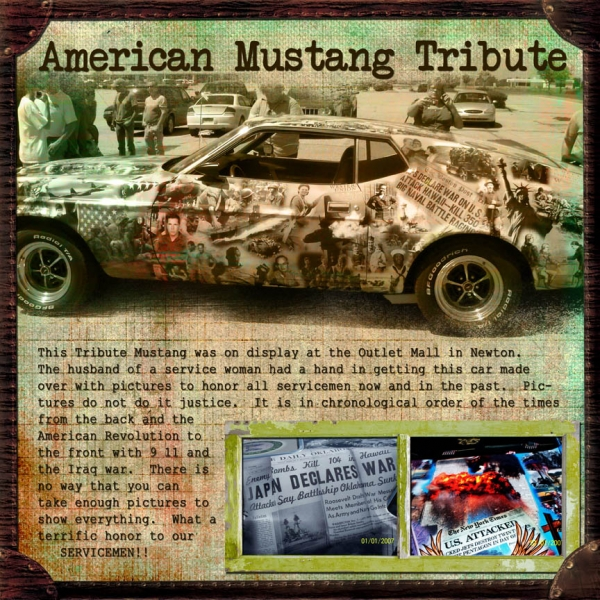 American Mustang Tribute Car