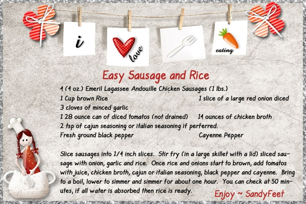 Easy Sausage and Rice