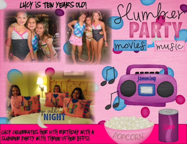 Lucy's Tenth Birthday Slumber Party